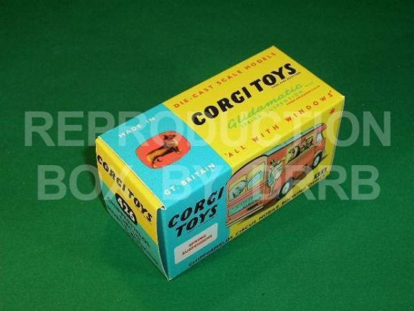 Corgi #426 Chipperfield Circus Booking Office - Reproduction Box